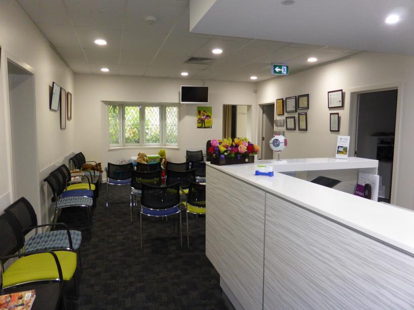Photo of the waiting area at Epping Eye Surgery